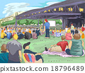 People Tailgating Outdoor Concert 18796489