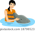Girl Pat Friendly Dolphin 18796523