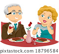 couple eating vector 18796584