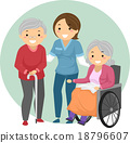 Stickman Seniors Caregiver 18796607