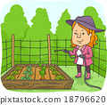 Girl Water Plant Box 18796620
