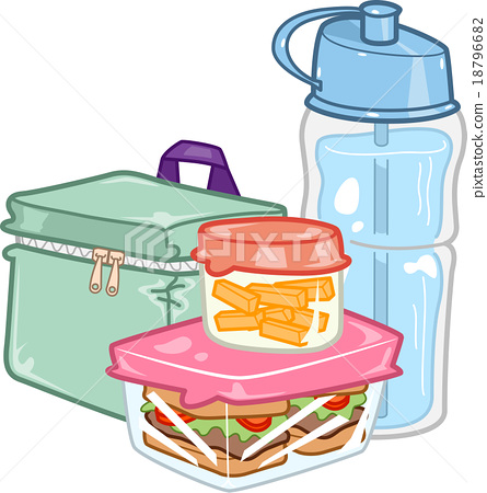 Kids Lunch Box Stock Illustration 18796682 Pixta