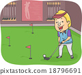 Man Golf Indoor 18796691