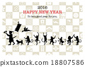 new year's card, vectors, vector 18807586