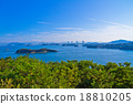 Seto Inland Sea and Seto Ohashi Bridge 18810205
