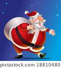 Vector cartoon Cute Santa Claus 18810480