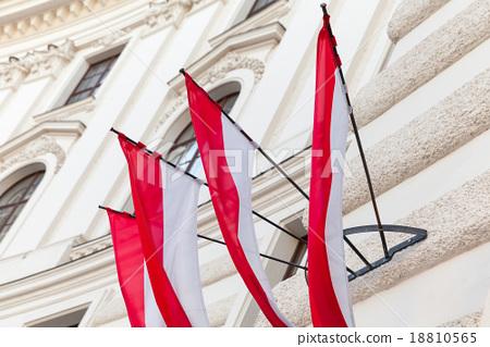Flags of Vienna city in Austria 18810565