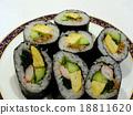 壽司卷 用乾紫菜捲的醋飯 壽司 18811620