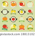 Set of fresh fruit premium quality tag 18813102