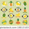 Set of fresh fruit premium quality tag 18813103