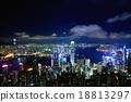 夜景 太平山頂 香港 18813297
