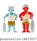 蓝鬼 红色恶魔 魔鬼 18813557