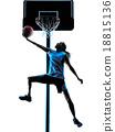 woman basketball player silhouette 18815136