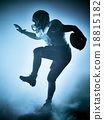 american football player silhouette 18815182