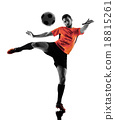 Soccer player Man Isolated silhouette 18815261