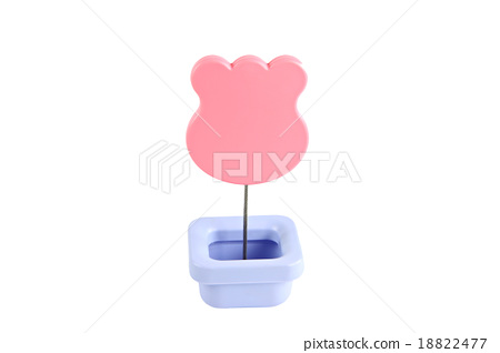 Emoticons Pink tags isolated. 18822477