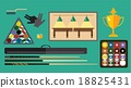 vector, billiard, flat 18825431