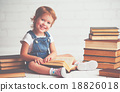 child little girl with books 18826018