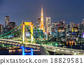 Evening View of Tokyo Tower, and Tokyo Skyline 18829581