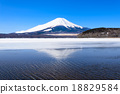 Mount Fuji reflected in Lake Yamanaka, Japan. 18829584