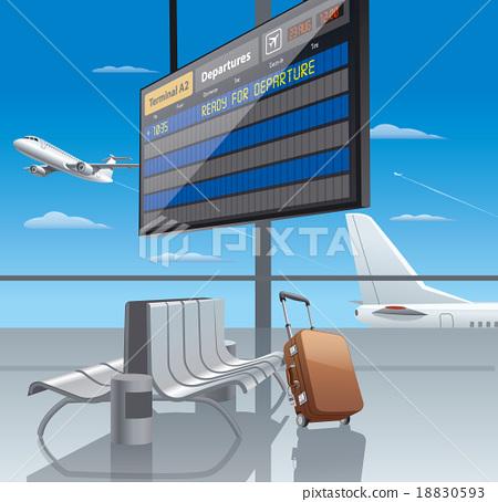 airport departure 18830593