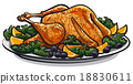 roasted turkey 18830611