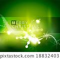 녹색, 휴일, 벡터 18832403