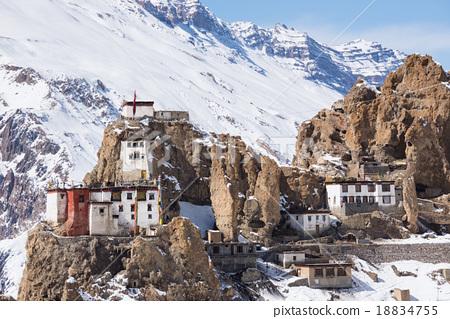 Dhankar village, Spiti Valley, Himachal Pradesh 18834755
