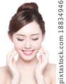 beautiful Skin care woman Face 18834946