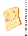 麵包 人造奶油 1塊麵包片 18841584