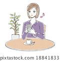 咖啡 智能手机 女性 18841833