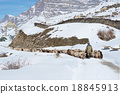 Flock of goat and sheep in Spiti valley 18845913