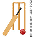 bat, ball, vector 18846002