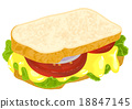 sandwich with cheese 18847145