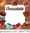 chocolate tasty vector 18847796