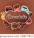 chocolate tasty vector 18847812