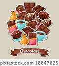 chocolate tasty vector 18847825