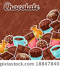 chocolate tasty vector 18847840