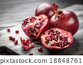 Red juice pomegranate 18848761