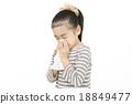 girl, young girl, flu 18849477