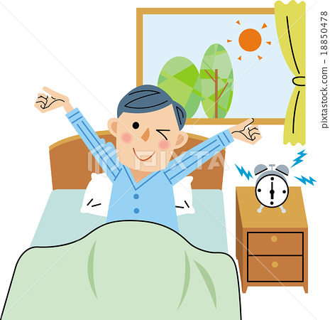 get up getting up wake up stock illustration 18850478