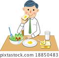 早餐 吃 男子 18850483