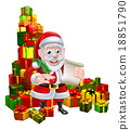 santa, christmas, list 18851790