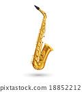 Golden Saxophone Illustration 18852212