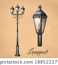 เสา,โคมไฟ,หลอดไฟ 18852227