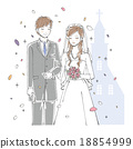 vectors, vector, bridal couple 18854999
