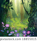 forest painting 18855015