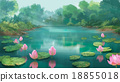 lotus in the swamp painting 18855018