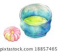 日本茶 抹茶 和果子 18857465