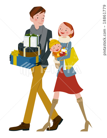 Family in shopping 18861779